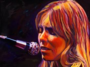 Singer Songwriter Paintings - Joni Mitchell..legend by Vel Verrept