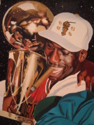 Michael Jordan Painting Framed Prints - Jordan Framed Print by Brandon Ramquist