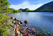 Down East Maine Photos - Jordan Pond - West shore  by Thomas Schoeller