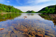 River Scenes Posters - Jordan Pond and The Bubbles Poster by Thomas Schoeller