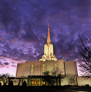 Spire Art - Jordan River Utah Lds (mormon) Temple by Utah-based Photographer Ryan Houston