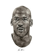 Michael Jordan Painting Framed Prints - Jordan Framed Print by Tamir Barkan