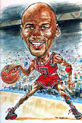 Sports Print Paintings - Jordan by Tom Hedderich