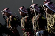Jordanian Honor Guardsmen Welcome Print by Everett