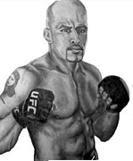 Mixed Martial Arts Drawings - Jorge Rivera by Audrey Snead