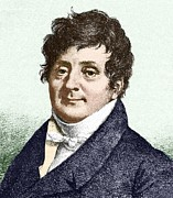 Male Forms Posters - Joseph Fourier, French Mathematician Poster by Sheila Terry