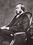 Sideburns Photo Framed Prints - Joseph Lister, 1827-1912, British Framed Print by Everett