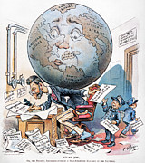 Joseph Pulitzer Cartoon Print by Granger
