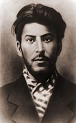 Mug Shots Posters - Joseph Stalin 1879-1953, In An Early Poster by Everett