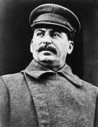 Leftist Framed Prints - Joseph Stalin 1879-1953, Leader Framed Print by Everett