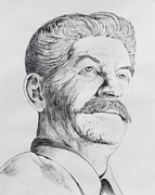 Moscow Drawings - Joseph Stalin by Daniel Young