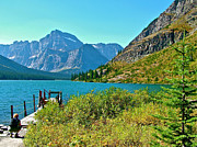 Montana Digital Art - Josephine Lake in Glacier NP by Ruth Hager