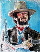 Clint Paintings - Josey Wales  by Jon Baldwin  Art