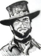 Outlaw Paintings - Josey Wales  by Jon Baldwin  Art