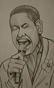 Singer Drawings - Joshua Ledet by Pete Maier