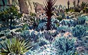 National Park Paintings - Joshua Trees and Yucca by Donald Maier