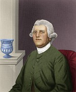 Anti-slavery Metal Prints - Josiah Wedgwood, British Industrialist Metal Print by Maria Platt-evans