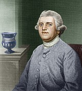 Slavery Framed Prints - Josiah Wedgwood, British Industrialist Framed Print by Sheila Terry
