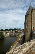 11th Posters - Josselin Castle and River Oust Poster by RicardMN Photography