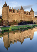 Old Facade Posters - Josselin Chateau Poster by Jane Rix