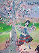 Castanets Paintings - Jota Tree Dance by Judith Desrosiers