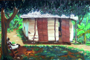 Haitian Paintings - Jou DNowel by Jean-Marie Poisson