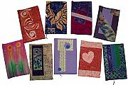 Book Tapestries - Textiles - Journal or Sketchbook Covers by Pam Geisel