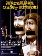Censorship Posters - Journalism under attack Poster by Armand Roy
