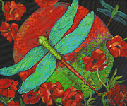 Dragonflies Art - Journey At Dawn by Debbie McCulley