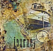 Collage Posters - Journey Poster by Barb Pearson