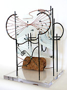 Glass Sculpture Sculpture Prints - Journey Print by Idelle Okman Tyzbir
