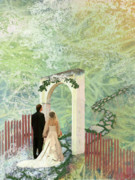 Bride Mixed Media Posters - Journey of Marriage Poster by Arlissa Vaughn