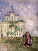 Church Drawings Originals - Journey by Svetlana Novikova