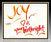 Joy Mixed Media - Joy Birthright by L Jaye  Bell