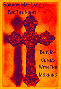 Bible Mixed Media Prints - Joy Comes Print by Angelina Vick