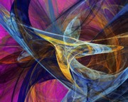Fractal Flame Prints - Joy Print by David Lane
