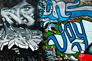 Tribal Art Paintings - JOY Graffiti wall  by Yurix Sardinelly