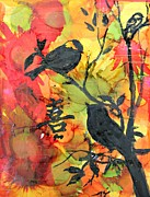Joy Mixed Media Originals - Joy In Fall Colors by Alma Yamazaki