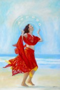 Belly Dance Paintings - Joy by Michal Shimoni