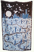 City Scenes Tapestries - Textiles - Joy of Living by Rollin Kocsis
