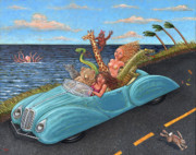 Sea Dragon Paintings - Joy Ride by Holly Wood