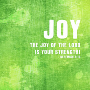 Scripture Digital Art. Scripture Digital Prints Prints - Joy Print by Shandra Aho
