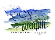 Spiritual Strength Prints - Joy Strength I Print by Judy Dodds
