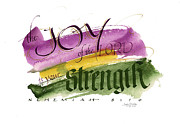 Bible Painting Posters - Joy Strength II Poster by Judy Dodds