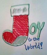 Cheer Drawings Posters - Joy to the World Poster by Jamey Balester
