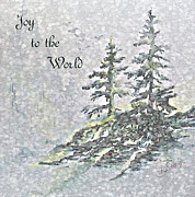 Christmas Card Digital Art Metal Prints - Joy to the World Metal Print by Joanne Smoley
