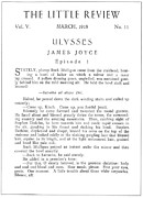 1918 Metal Prints - Joyce: Ulysses, 1918 Metal Print by Granger