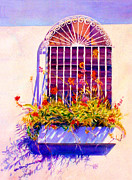 Puerto Rico Paintings - Joyful Window by Estela Robles