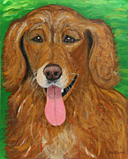 Pet Paintings - Joyfully by Ania M Milo