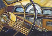 Vintage Car Art - Joyride by Barb Pearson